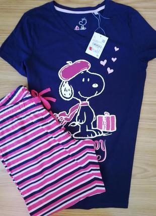 Пижама футболка реглан набор комплект для сна 36,38 новая