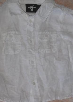 Льняная рубашка для крохи3 фото