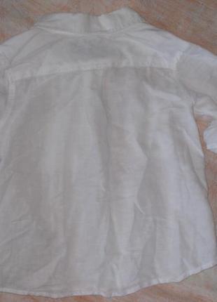 Льняная рубашка для крохи2 фото