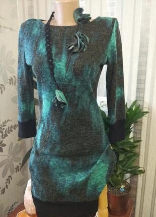 Абалденное теплое платье на зиму