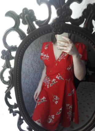 Платье в цветы,сарафан цветочный принт с цветами