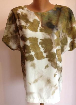 Фирменная комбинированная блузка от zara/m- l/