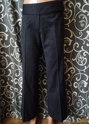 Весенние осенние штаны клеш палаццо кюлоты 100%шерсть вержини
