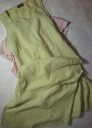 Легенький сукня з льону довжини міді