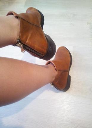 Брендовые натур. кожа ботинки
