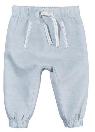 Льняные брюки для девочки lupilu pure collection