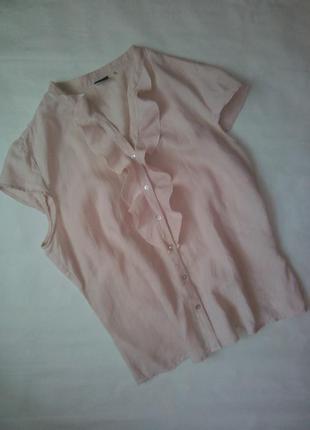 Красива блуза з рюшами із льону sixth sense