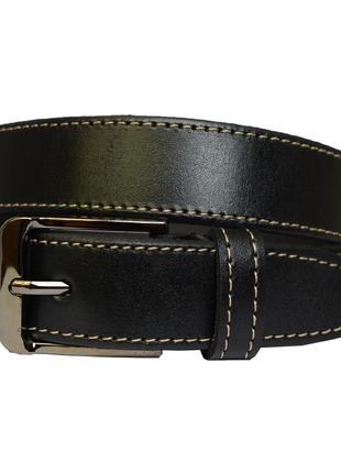 Smartboy ремень кожаный пояс кожанный детский подростковый черный пасок шкіряний