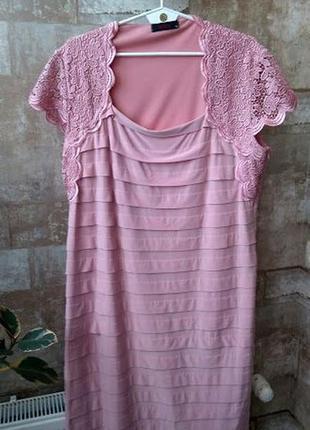 Verda. нарядное платье с кружевами. размер 2-3xl