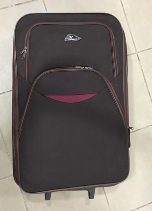 Новый прочный коричневый дорожный чемодан l большой