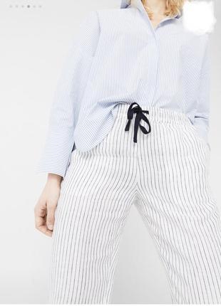 Брюки штани льняные лляні штанці лен