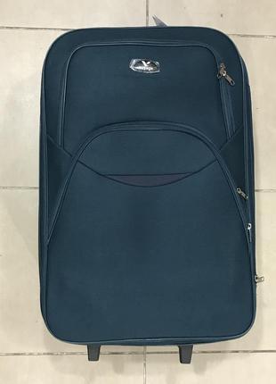 Новый синий, бирюзовый дорожный чемодан m средний