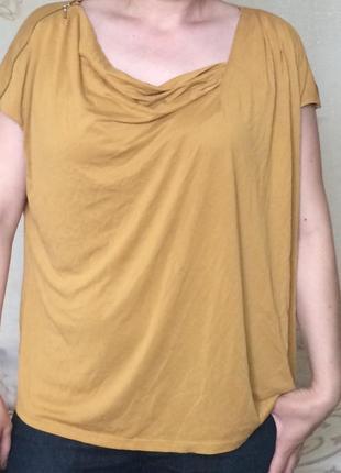 Очень красивая блуза горчичного цвета модал