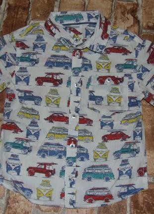Хлопковая тениска рубашка 3-4 года