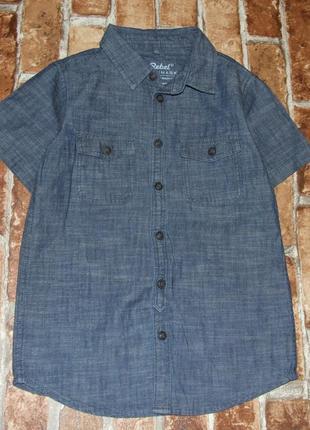 Джинсовая хлопковая рубашка 5-6 лет