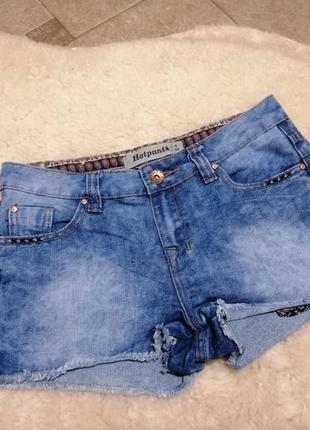 Джинсовые шорты new look р. s (8)