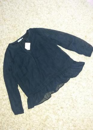 Блуза насичено чорного кольору.  європейський розмір с 36/38
