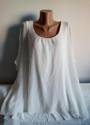 Шикарная белая блуза, р. 22