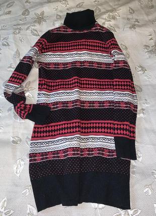 Свитер платье туника