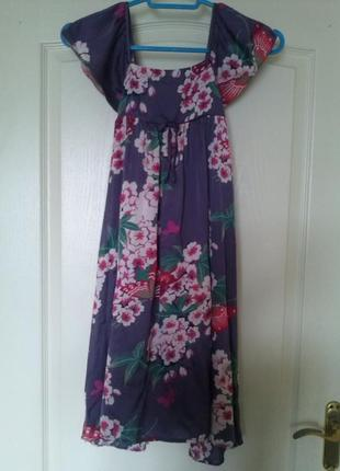 Шёлковое платье сарафан monsoon вискоза хлопок10-11 лет