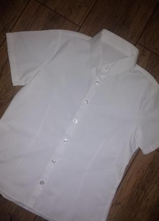 Белая рубашка с коротким рукавом от george