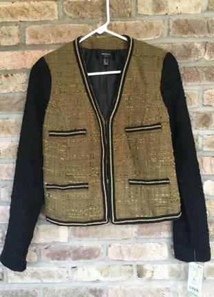 Твидовый пиджак классика нарядный повседневный