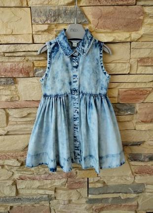 Платье джинсовое river island 6-9мес.