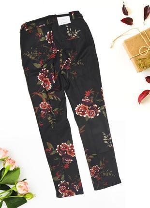 Новые штаны с поясом в цветочный узор stradivarius2 фото