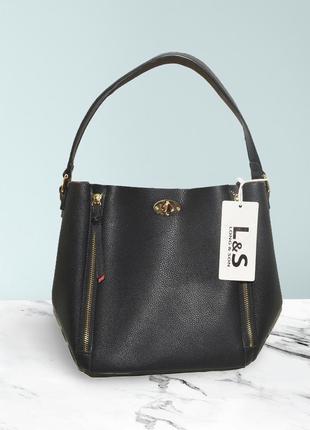 Новая сумка с красным внутри из рельефной эко-кожи l&s