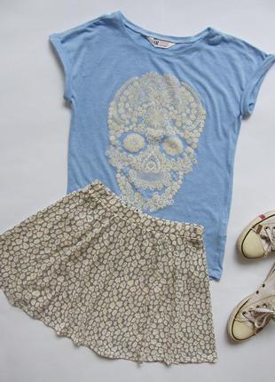 Леопардовая юбка солнце клеш1