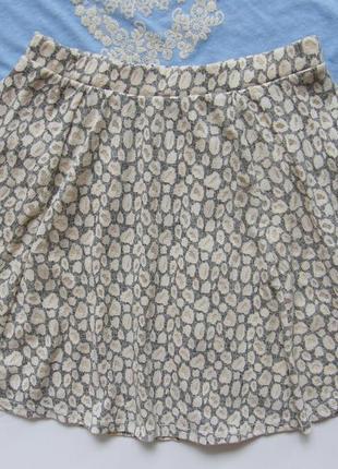 Леопардовая юбка солнце клеш2