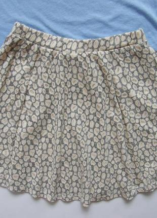 Леопардовая юбка солнце клеш3