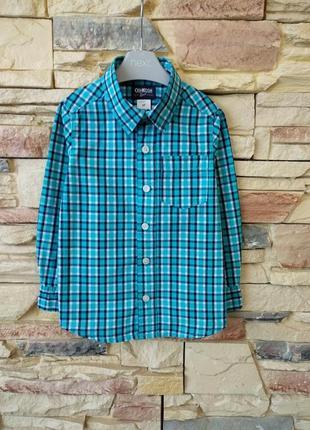 Рубашка oshkosh 2-3года( 98р.)