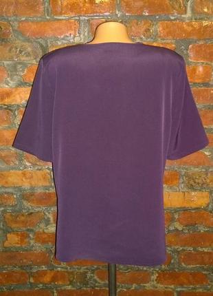 Блуза топ кофточка прямого кроя из мокрого шелка3 фото