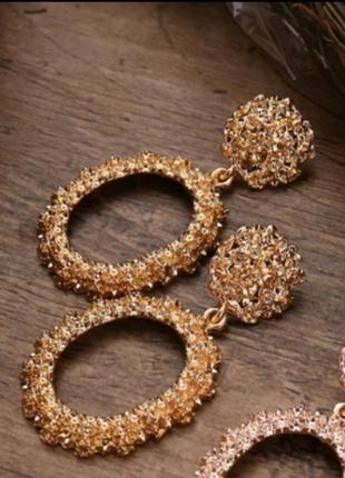 Серьги в стиле zara зара сережки винтаж золото вечерние