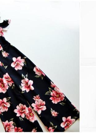 Шикарное платье с кюлотами в цветы