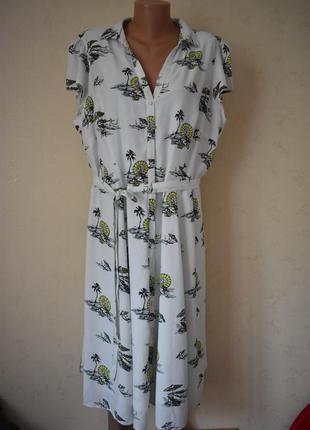 Новое платье-рубашка большого размера tu