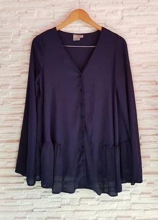 Шифоновая блуза рубашка оверсайз asos