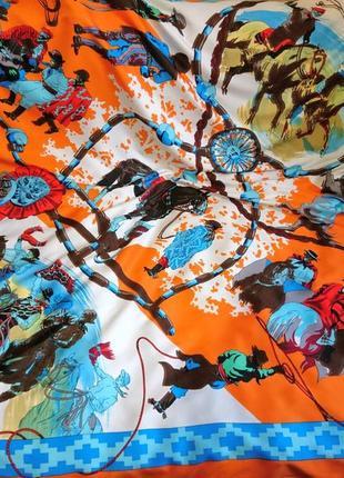 Шикарнейший шёлковый платок с ручной обработкой края2 фото