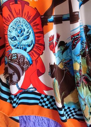 Шикарнейший шёлковый платок с ручной обработкой края4 фото