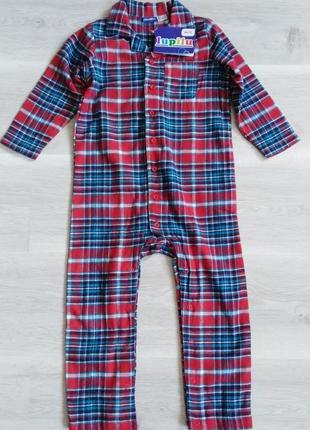 Пижама человечек р. 86 92 lupilu германия слип фланель