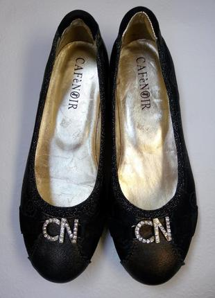 Туфли, кожаные балетки, оригинал cafenoir