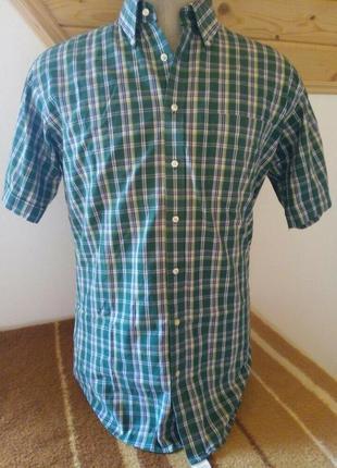 Мужские рубашка клетку зелений розмір-39-40