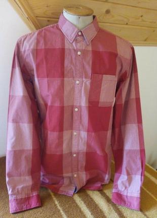 Мужские рубашка клетку червоний розмір-50-52