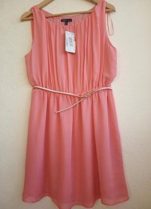 Платье mango нежно-персикового цвета