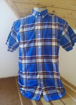 Мужские рубашка клетку розмір-50-54