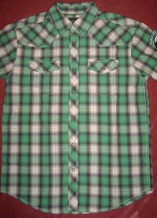 Рубашка в клетку хлопок на кнопках р. m - тренд tom tompson