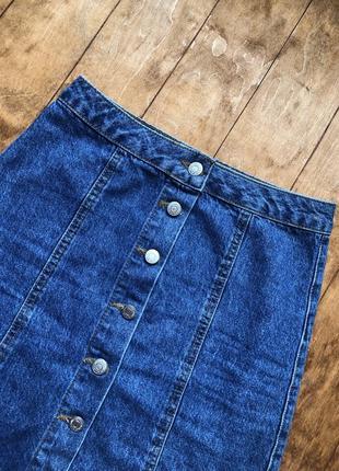 Джинсовая юбка высокая посадка