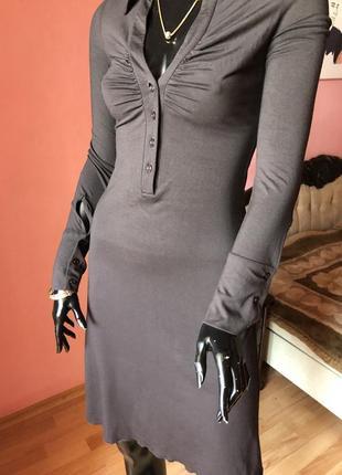Платье италия, шоколадного цвета, размер s-m, вискоза