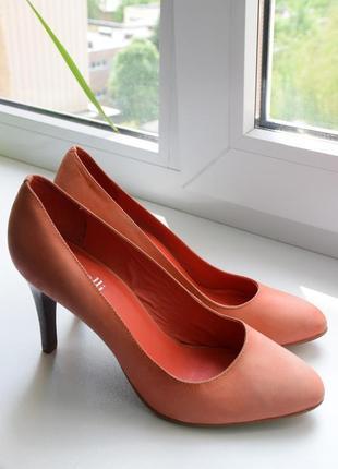 Брендові туфлі-лодочки minelli шкіряні/замшеві